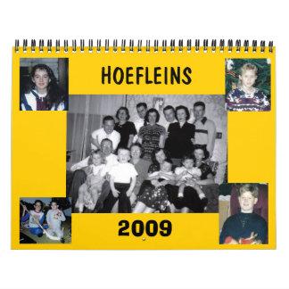 2009 Calendar of Hoefleins