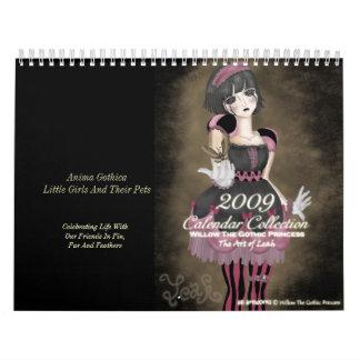 2009 Calendar Willow The Gothic Princess