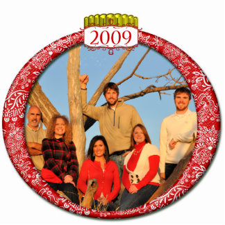 2009 Family Photo Christmas Ornament Photo Sculpture Decoration