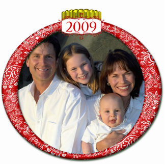 2009 Family Photo Christmas Ornament Photo Cut Out