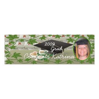 2009 Graduation Photo Bookmark Business Card Templates