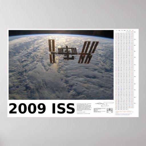 2009 International Space Station Calendar Poster