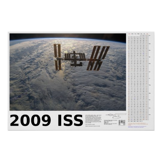 2009 International Space Station Calendar Poster