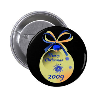 2009 Ornament Merry Christmas Button