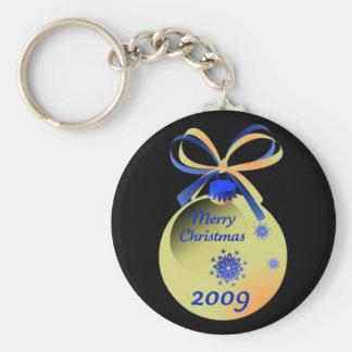 2009 Ornament Merry Christmas Keychain