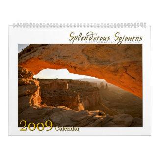 2009 Splendorous Sojourns Calendar