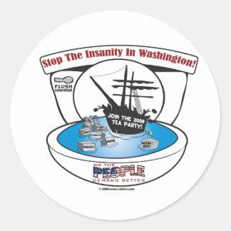 2009 Tea Party Classic Round Sticker