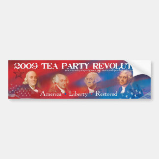 2009 Tea Party Revolution Bumper Sticker