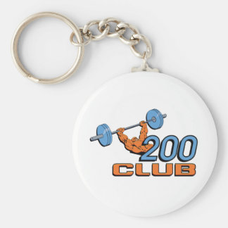 200 Club Basic Round Button Key Ring