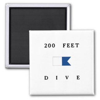 200 Feet Alpha Dive Flag Fridge Magnet