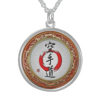[200] Japanese calligraphy - Karate-do Sterling Silver Necklace