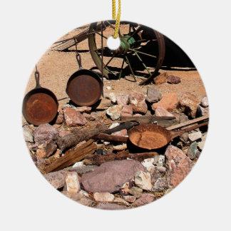 2010-06-26 C Las Vegas (189)abandoned_campsite.JPG Ceramic Ornament