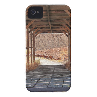 2010-06-28 C Calico Ghost Town (60)wooden_tunnel.j Case-Mate iPhone 4 Cases