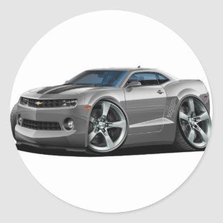 2010-12 Camaro Grey-Black Car Classic Round Sticker