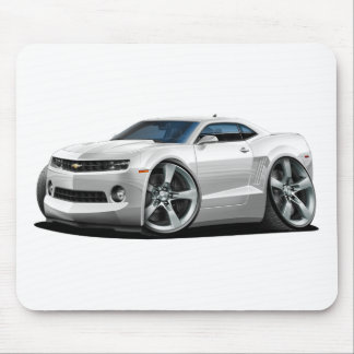 2010-12 Camaro White Car Mouse Pad