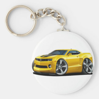 2010-12 Camaro Yellow-Black Car Key Ring