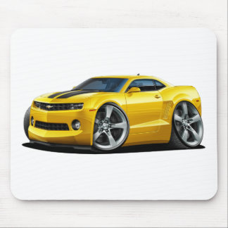 2010-12 Camaro Yellow-Black Car Mouse Pad