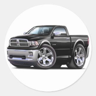 2010-12 Ram Black Truck Classic Round Sticker