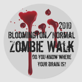 2010 Bloomington/Normal zombie walk Round Sticker