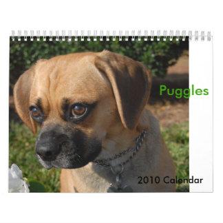 2010 Calendar, Puggles Wall Calendar
