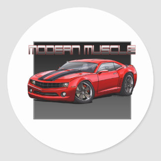 2010_Camaro_Red Classic Round Sticker