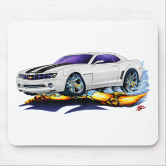 2010 Camaro White-Black Car Mouse Pad