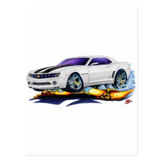 2010 Camaro White-Black Car Postcard