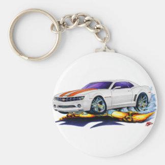 2010 Camaro White-Orange Car Key Ring