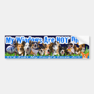 2010 Corgi Nose Art Bumper Sticker