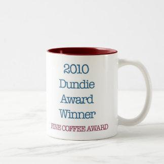 "2010 Dundie award winner ""fine coffee award"" Two-Tone Mug"