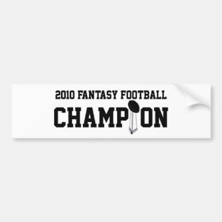 2010 Fantasy Football Champion Bumper Sticker