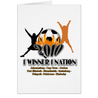 2010 Football host nation gifts & souvenirs Greeting Card