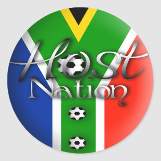 2010 Football host nation gifts & souvenirs Round Sticker