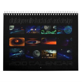 2010 fractal photo-manipulation calendar