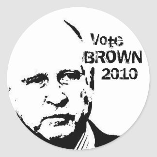 2010 Jerry Brown Round Stickers