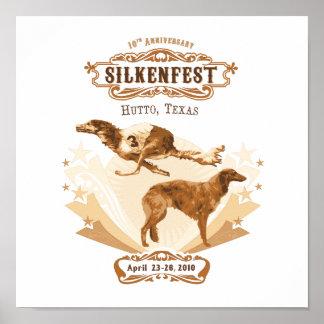 2010 Silkenfest logo Crystal Buckey poster/print Poster