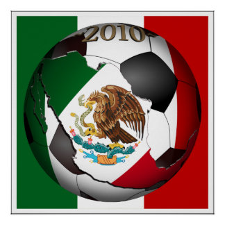 2010 Soccer Ball - Mexico Poster