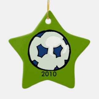 2010 Soccer ball star Ceramic Ornament