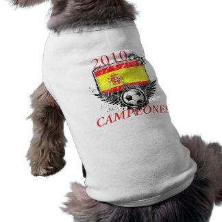 2010 Spain Campeones Sleeveless Dog Shirt