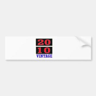 2010 Vintage Bumper Sticker