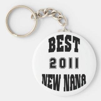 2011 Best New Nana Basic Round Button Key Ring