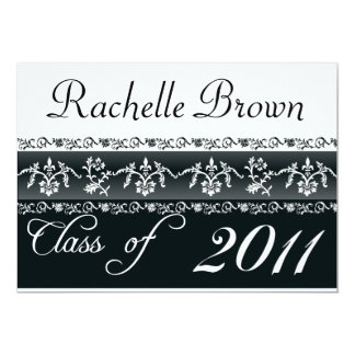 2011 Black and White Graduation Card