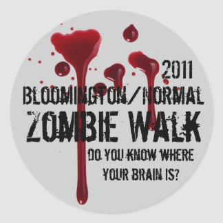 2011 Bloomington/Normal zombie walk Round Sticker