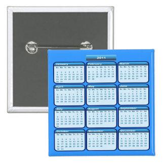 2011 Calendar In Blue Pin