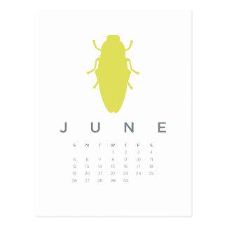 2011 calendar - June Postcard