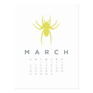 2011 calendar - March Postcard