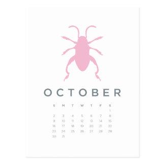 2011 calendar - Oct Postcard