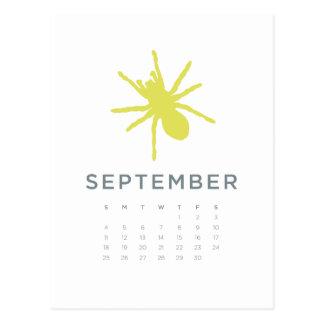 2011 calendar - Sep Postcard