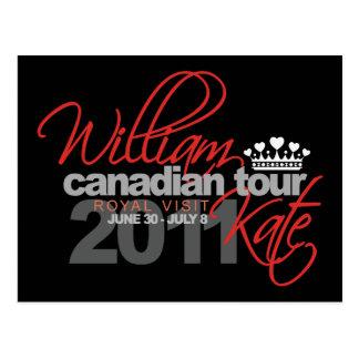 2011 Canadian Tour - William & Kate Wedding Postcard
