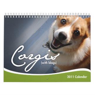 2011 Corgis (with blogs) Wall Calendar